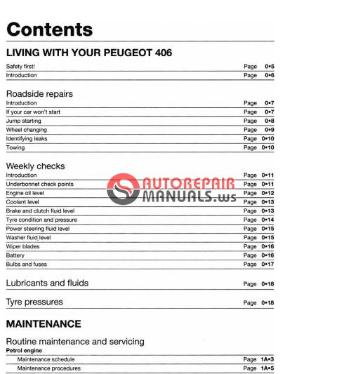 Repair Manual Peugeot     - Free Download