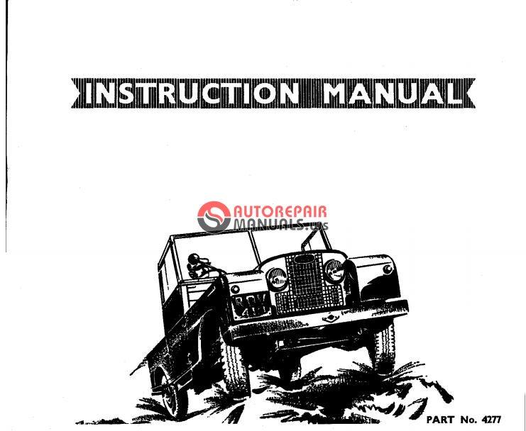 land rover series i  1948-1958  instruction manual