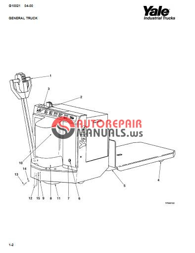 Yale Electric For Model Mlw 040 060 B828 Parts Manual