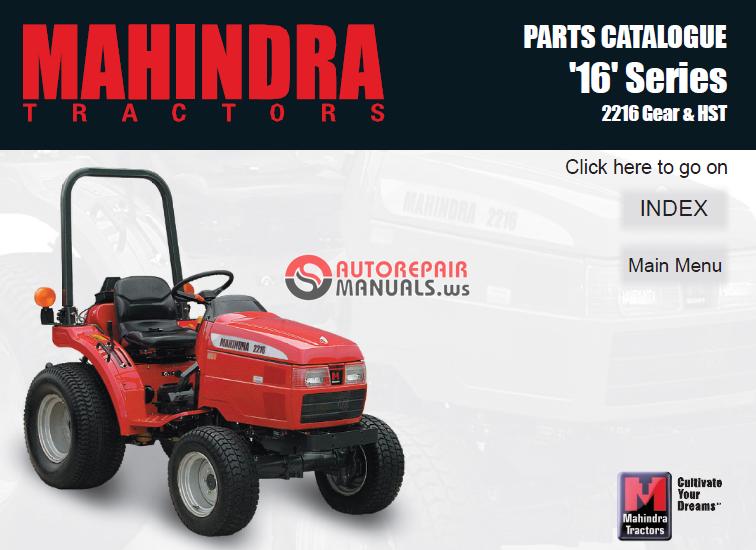 Mahindra Tractor Parts Manual : Mahindra tractor series gear hst parts manual