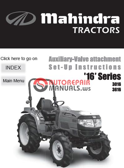 Mahindra Tractor Parts Manual : Mahindra tractor series  auxiliary valve