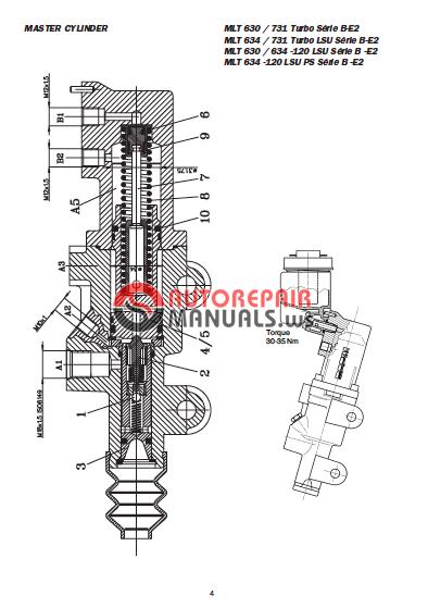 Manitou Mlt 630 Turbo Sb E2 Service Manual