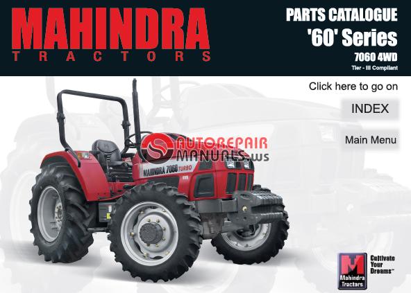Mahindra Tractor Parts Manual : Mahindra tractor series wd tier iii parts manual