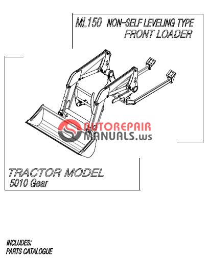 Mahindra Tractor 10 Series Front Loader Ml150 Parts Manual