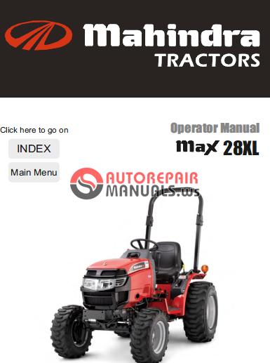 Mahindra Tractor Max Series 28xl Operator Manual
