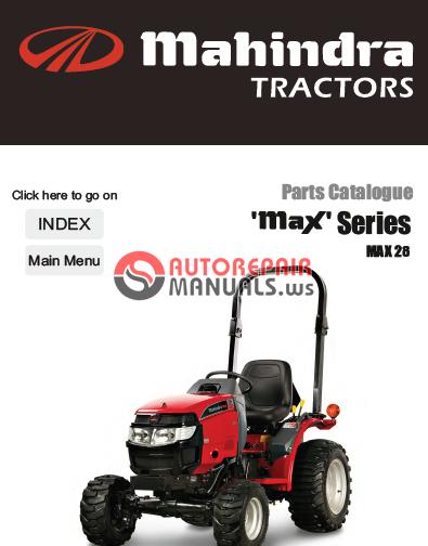Mahindra Tractor Max Series 28 Parts Manual