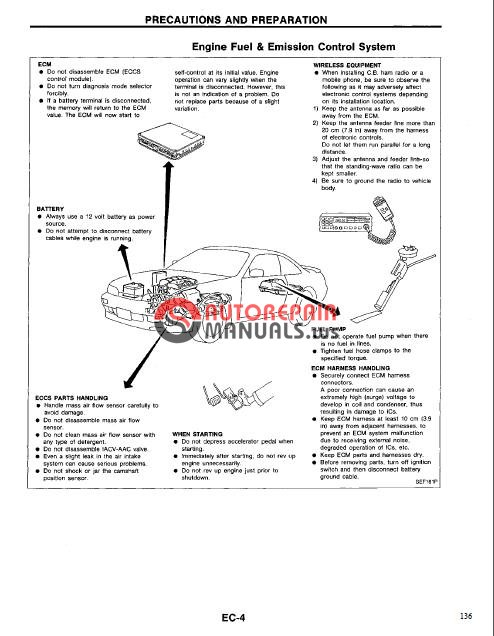 Nissan 240SX 1995-1998 Service Manual | Auto Repair Manual ...