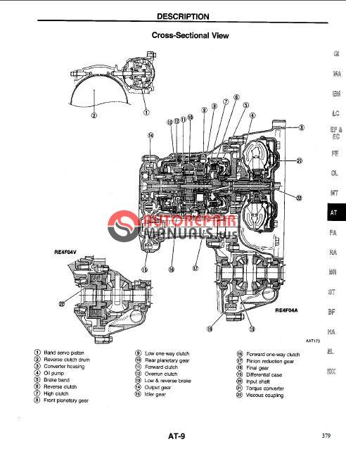 nissan altima 1994-1999 service manual