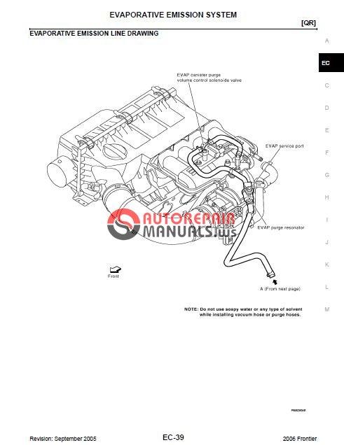 Nissan Frontier 2006 2009 Service Manual Auto Repair border=