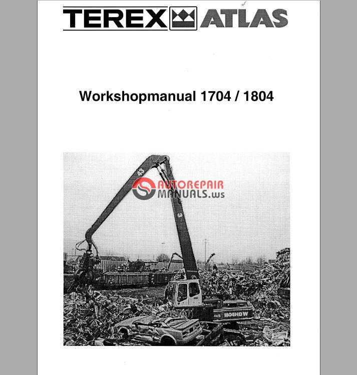 Terex Atlas 1704 1804 Excavator Service Manual