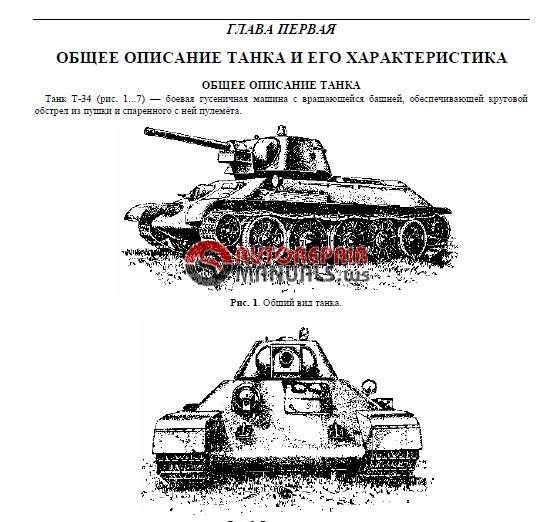 Legendary Battle Tank T 34 Manual 1944 Year Auto