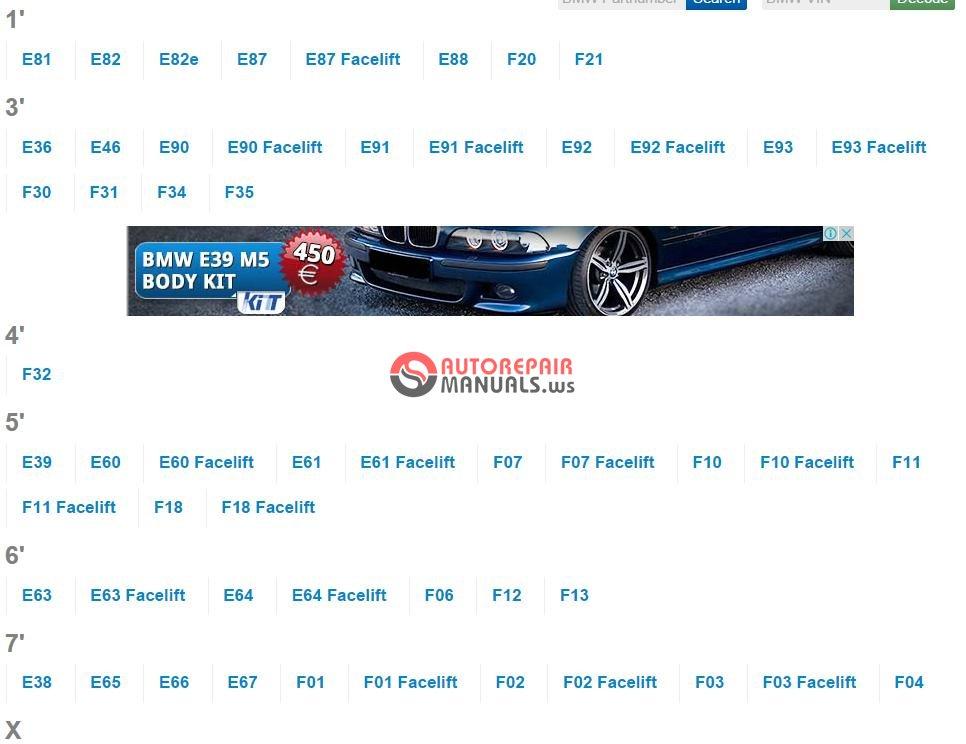 bmw parts catalog online auto repair manual forum. Black Bedroom Furniture Sets. Home Design Ideas