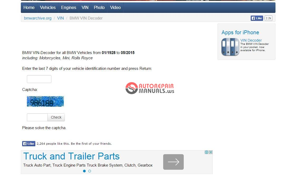 Bmw Vin Decoder For All Bmw Vehicles Auto Repair Manual Forum