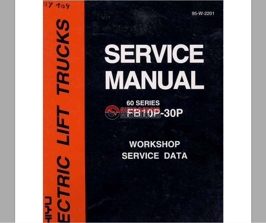 Nichiyu Forklift Service Manual