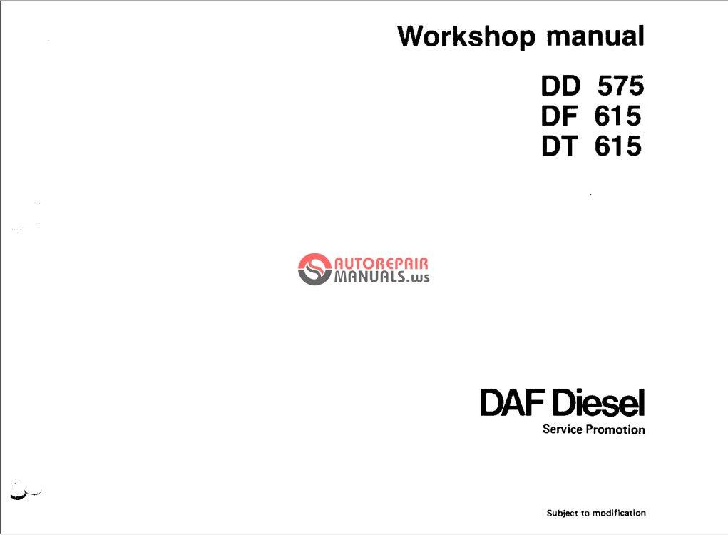 workshop manaual engine daf dt615