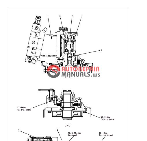 Komatsu Wheel Loaders Wa250pt-5 Shop Manual