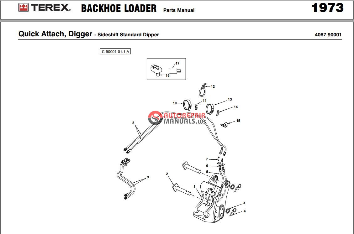 Terex Backhoe manual