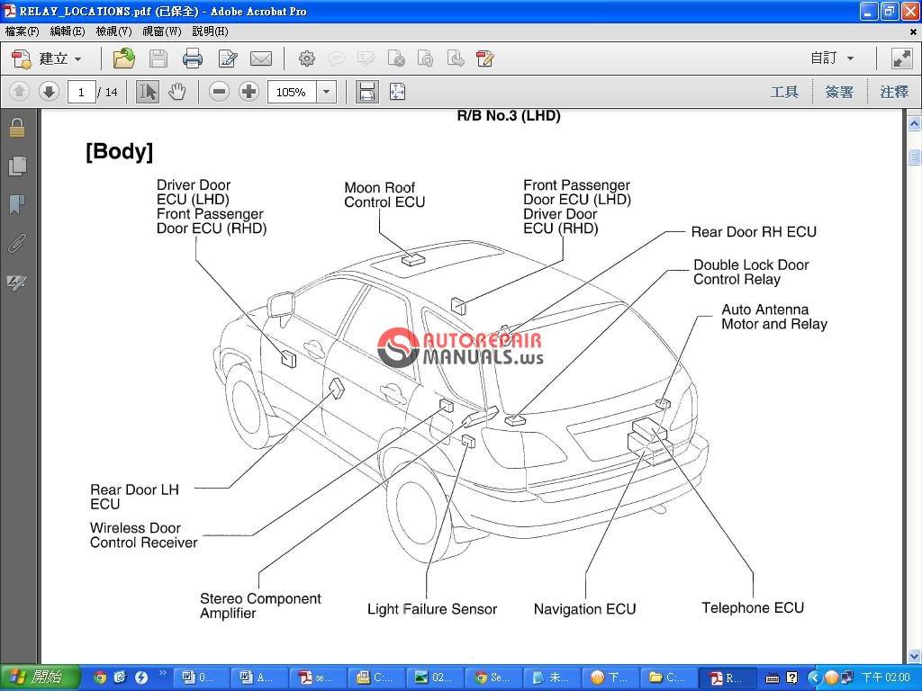 lexus rx350 330 300 mcu15 series 2000 service manual auto repair rh autorepairmanuals ws 2000 lexus rx300 service manual 2000 rx300 shop manual
