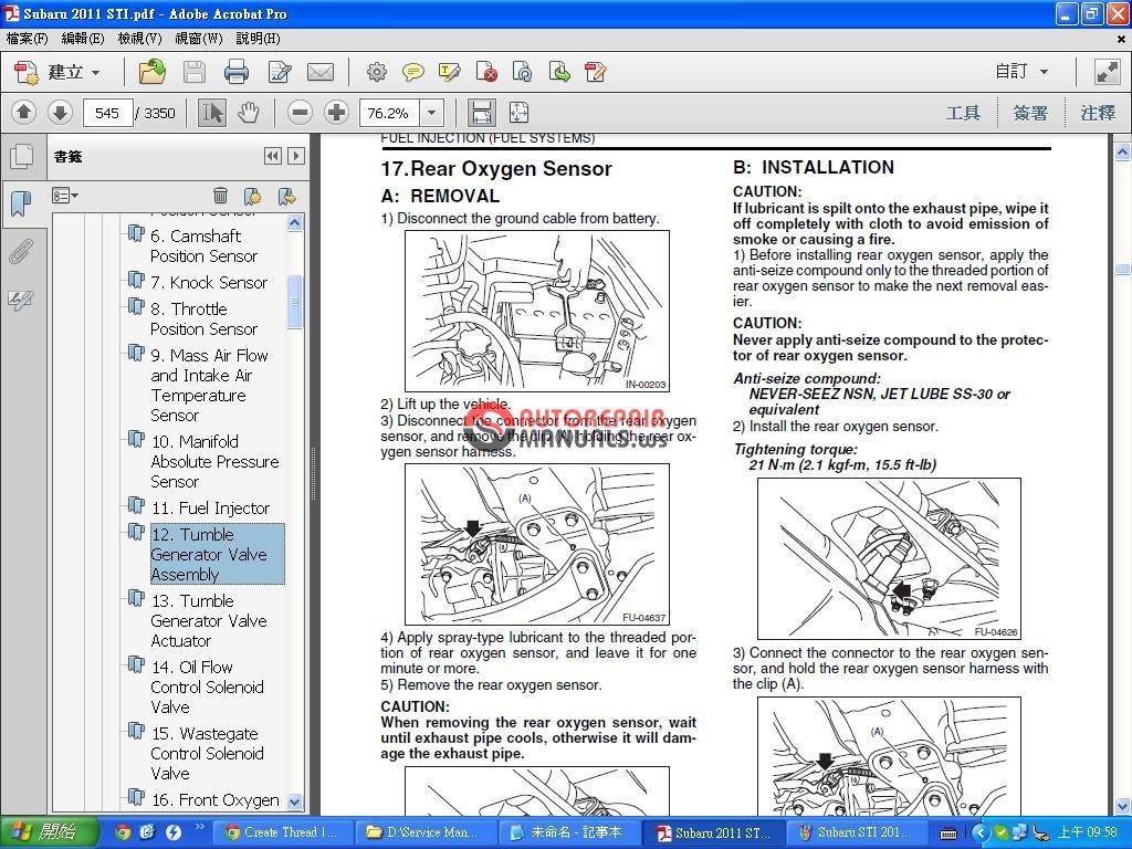 Subaru Wrx 1993 1996 Workshop Service Repair Manual Auto Wiring Ruud Diagram Uomb 084c 2011 Sti