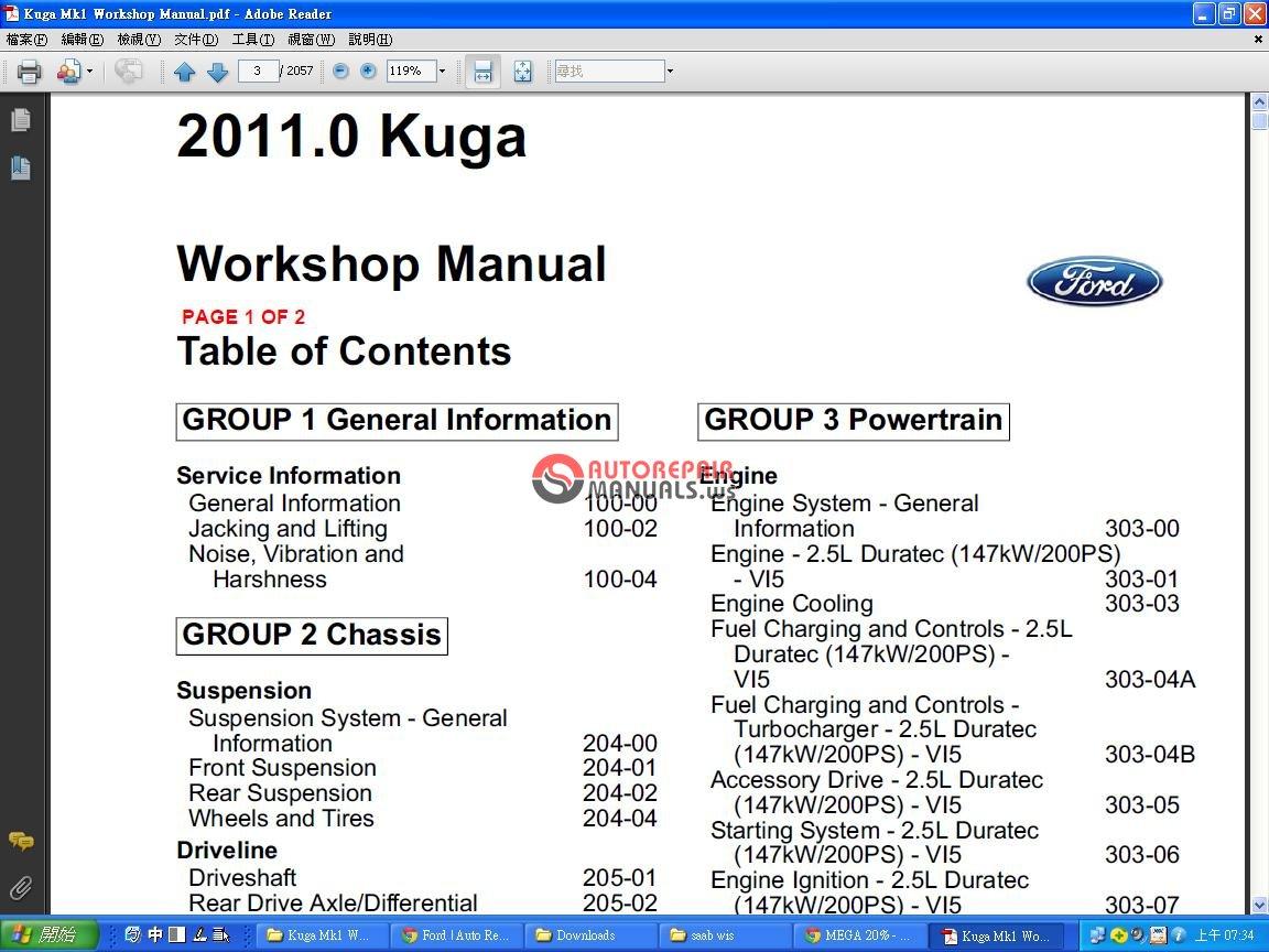 12871_93e9571e50f019636d8129621cf364ff ford kuga 2011 mk1 workshop manual auto repair manual forum ford kuga wiring diagram at readyjetset.co