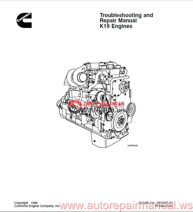 cummin troubleshooting and repair manual k19 engines