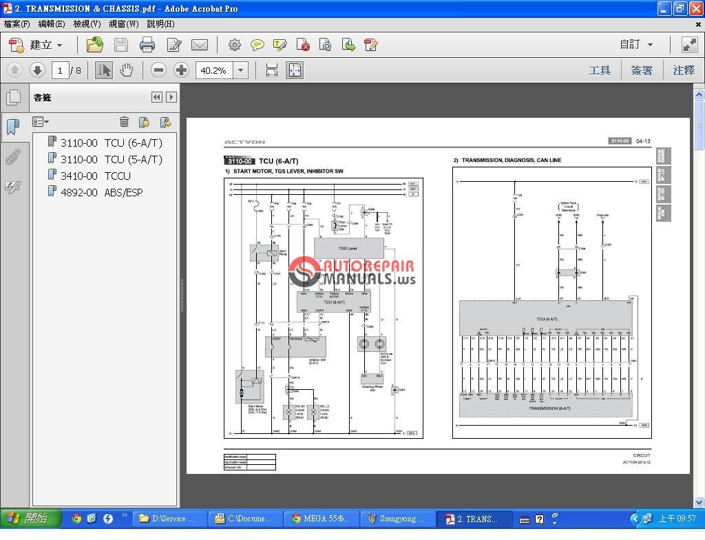 Ssangyong Actyon C150 201212 Diagram Auto Repair Manual Forum Daewoo Musso Wiring 4