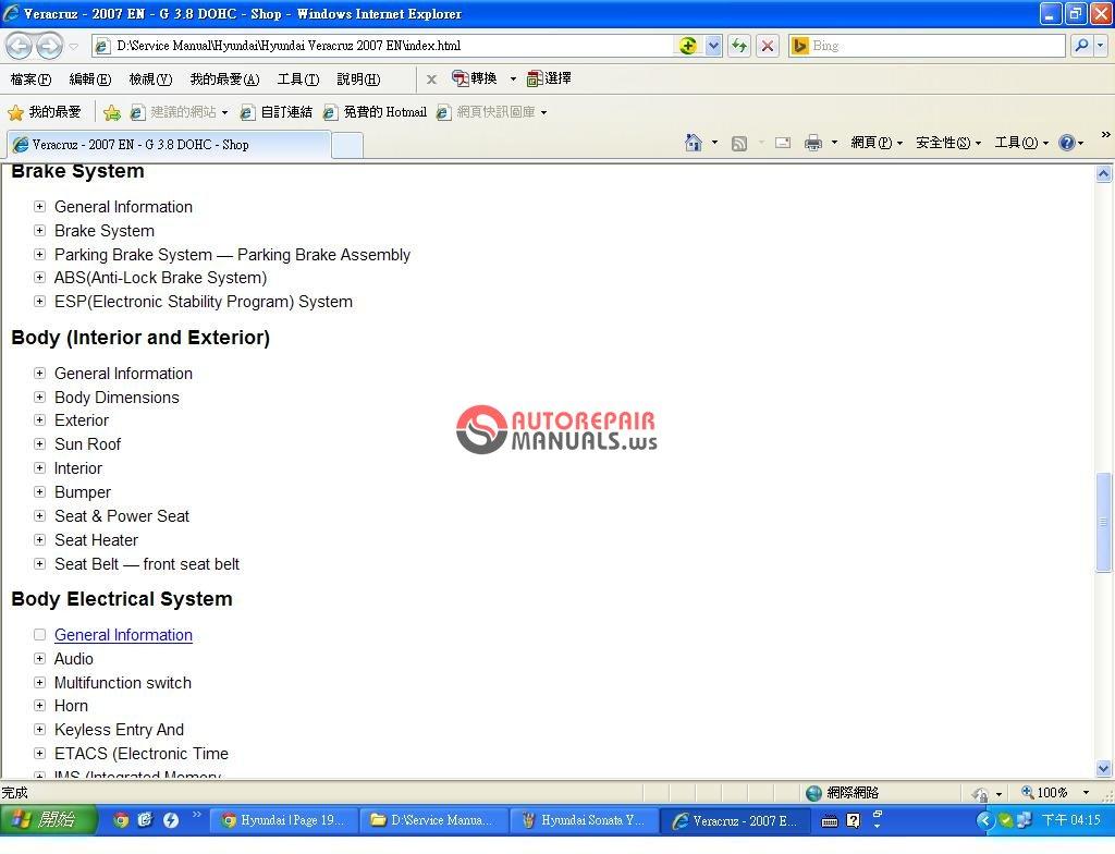 Hyundai Workshop Manual Free Download H100 Wiring Diagram Pdf