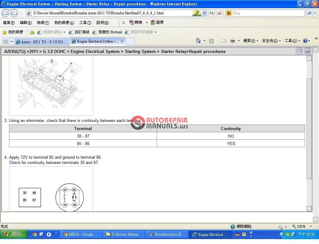 Hyundai       Azera    2011 TG 38L    Service    Training   Auto Repair Manual Forum  Heavy Equipment Forums