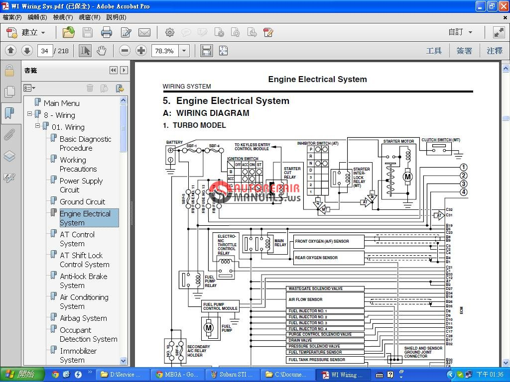 Subaru Impreza Sti 2006 Factory Service Manual