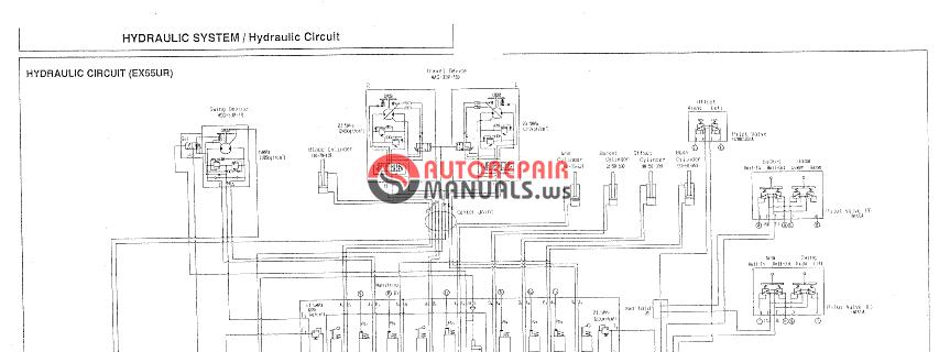 Hitachi Ex55ur Hydraulic Circuit Diagram