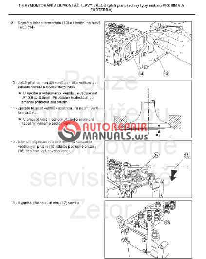 Zetor Engine Tractor Forterra 1204/1004/1304/1404/1504