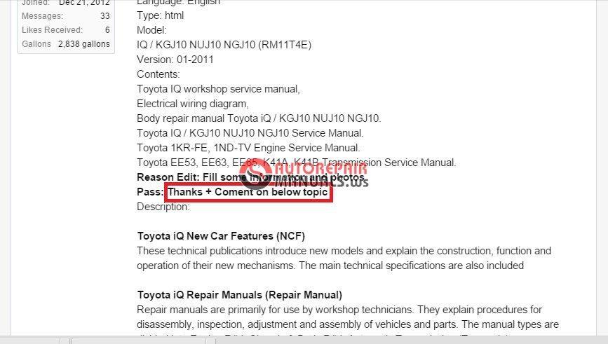 Super Toyota Iq 01 2011 Workshop Manual Cd Rm11T4E Auto Repair Manual Wiring Digital Resources Tziciprontobusorg