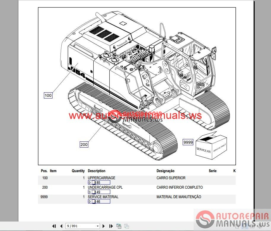 liebherr crawler excavator r954 part manual