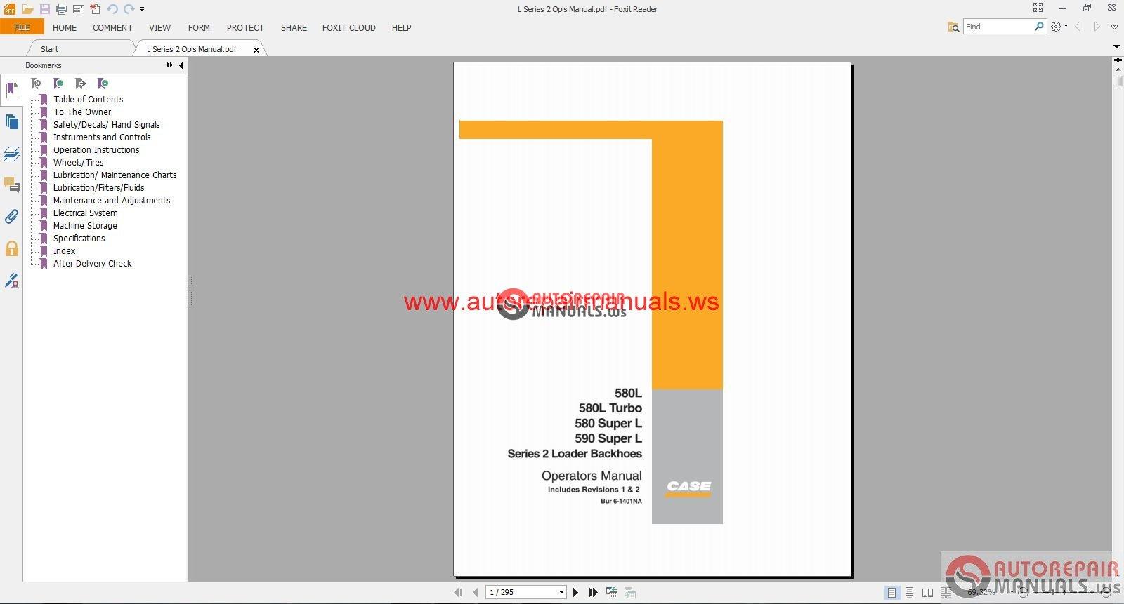 case 580k service manual download