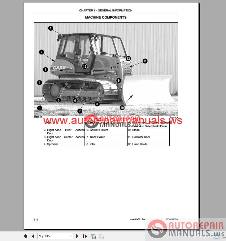 case dozer crawler operator 39 s manual auto repair manual. Black Bedroom Furniture Sets. Home Design Ideas