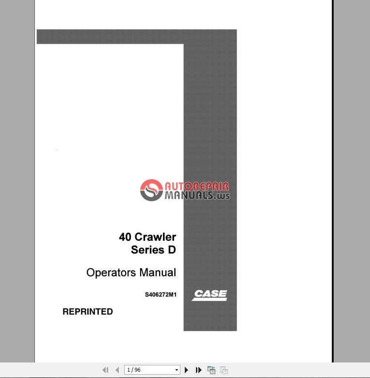 case excavator operator u0026 39 s manual