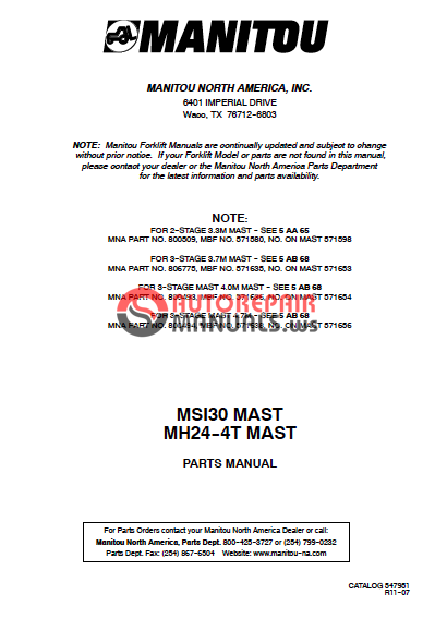 Manitou Msi 30d Ast    Mh 24