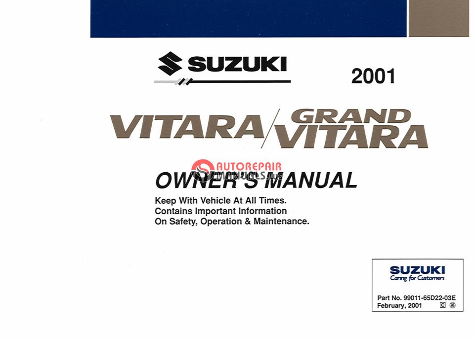 Bit Torrent  2001 Grand Vitara Owner U0026 39 S Manual