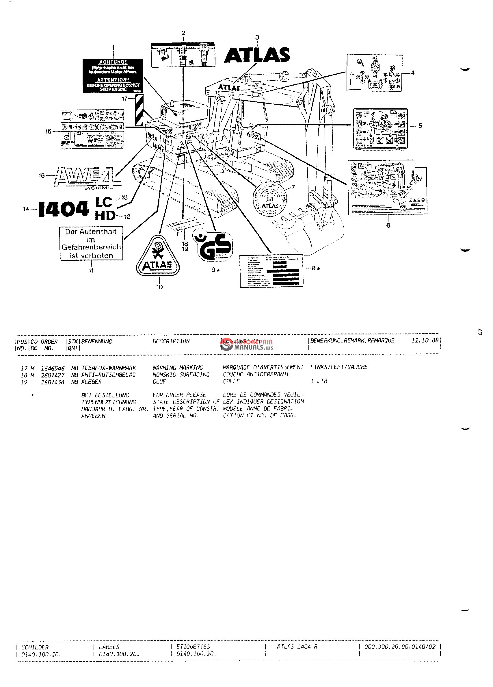 Atlas Copco Compressors Manuals Today Manual Guide Trends Sample Wiring Schematic Wheel Excavator 1404 Spare Parts Auto Repair Wire Diagram Xas85 1984