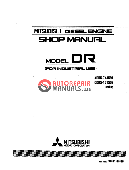 Mitsubishi Diesel Engine Model Dr  4dr5