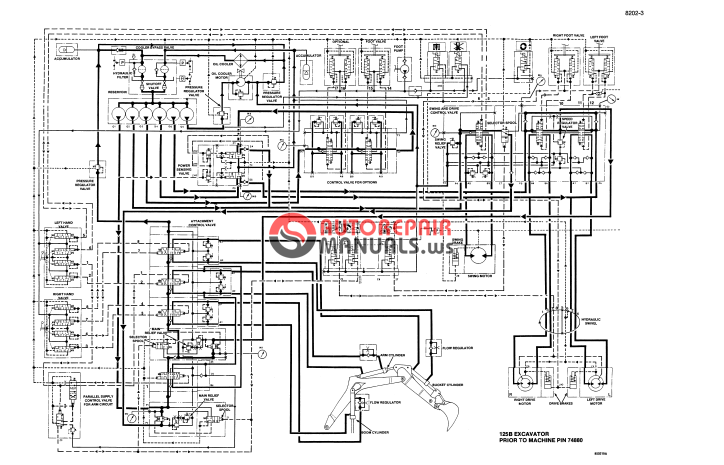 Case 125b Crawler Excavator Service Manual