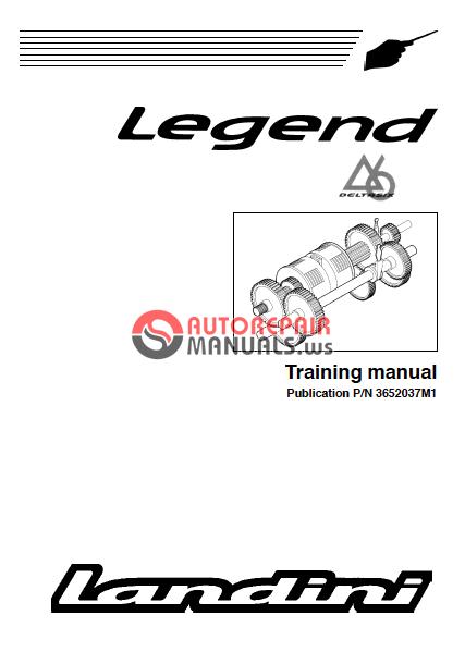Landini Tractor Legend Training Manual