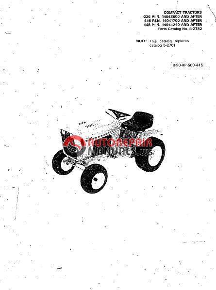 case  ingersoll compact tractor 226p i n  446p i n  448p i n