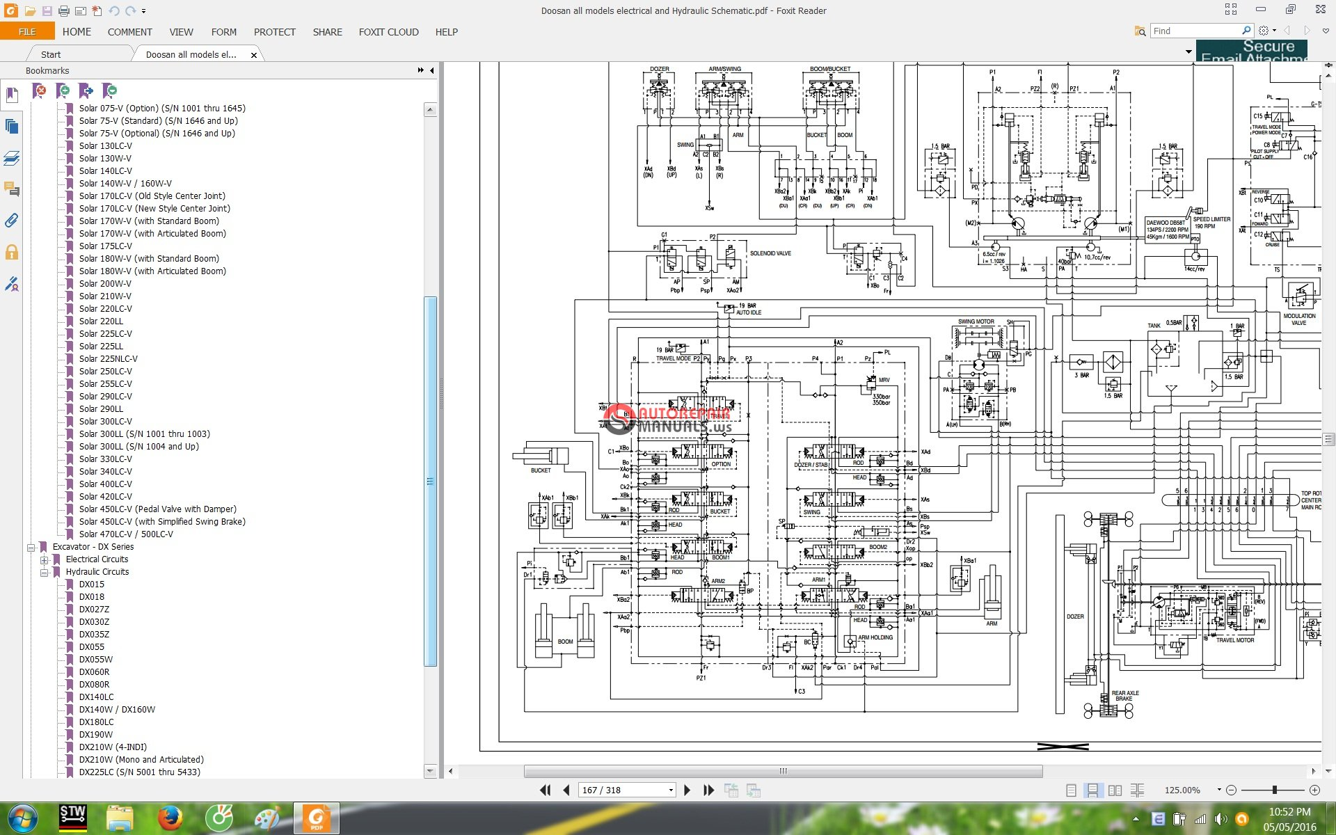 Doosan All Models Electrical And Hydraulic Schematic