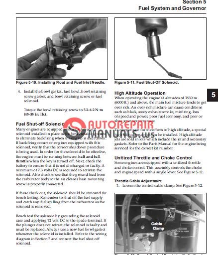 Kohler Engines Sv470 Sv620 Service Manual
