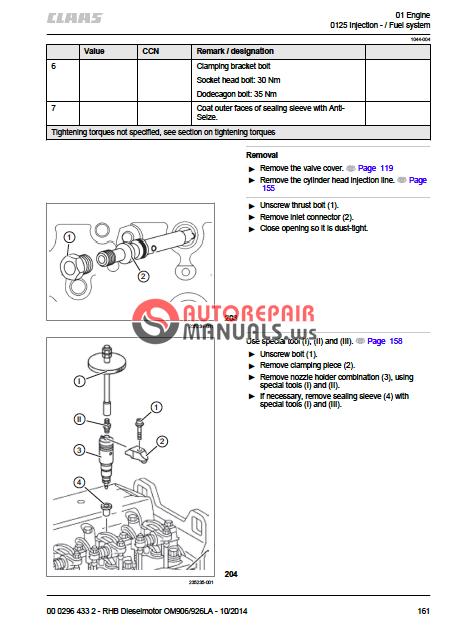 claas engine mercedes benz om906la om926la repair manual auto rh autorepairmanuals ws Store Workshop Manual Haynes Workshop Manuals