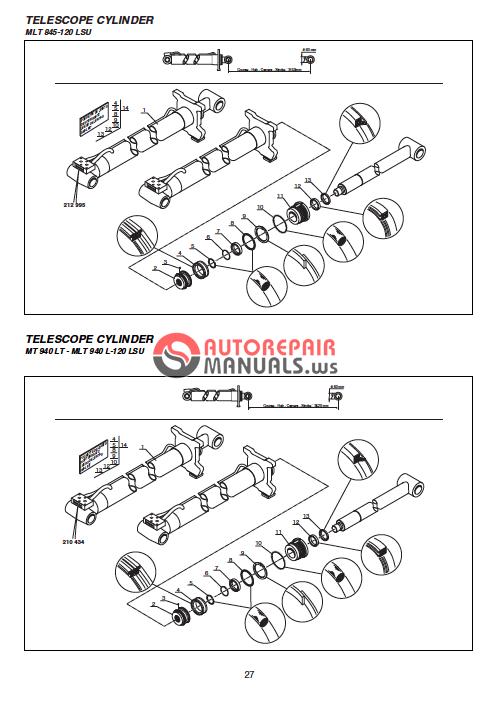 Manitou 628 Mla Workshop Manual
