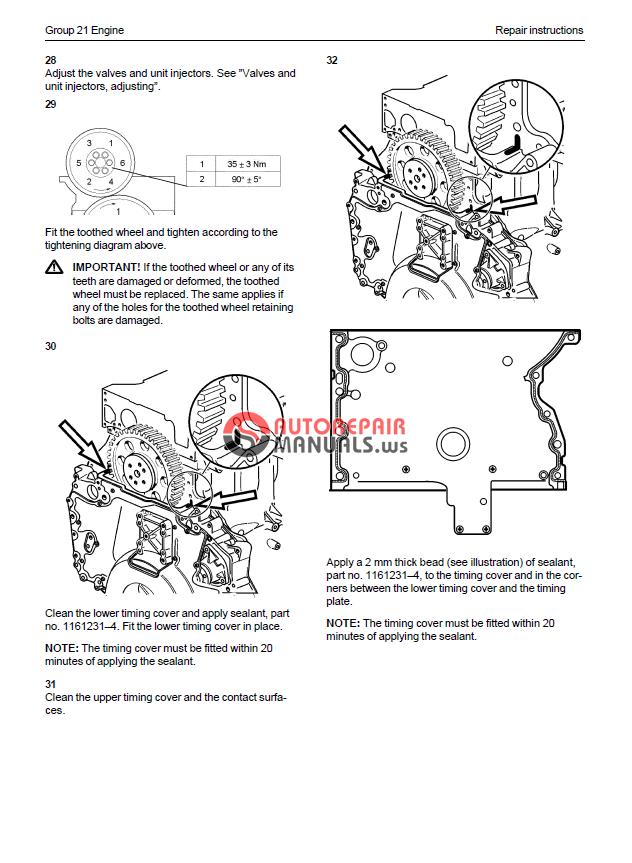volvo penta 1240-1242 workshop manual
