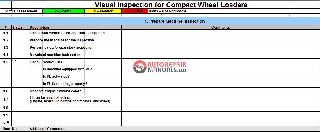 Ta 1 Ta 2 Visual Amp Technical Inspection By Caterpillar