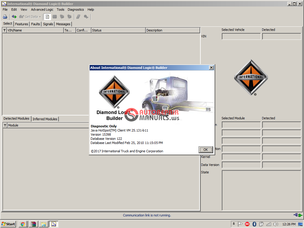 Navistar Diamond Logic Builder  No